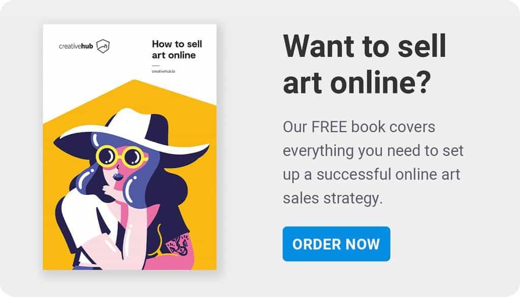 Sell art online book